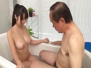 Mature studs have a fun the large mangos and juicy cum-hole of Yumeno Aika