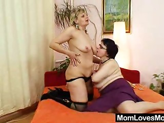 Non-professional grandmothers immodest lesbo snatch games