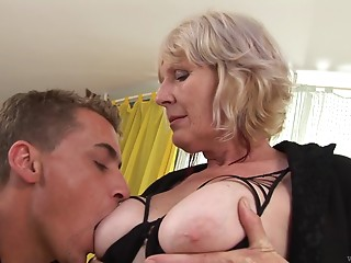 A excited old slut acquires a wonderful hard pounding and likes each inch