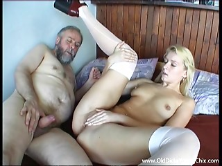 Breathtaking Blond Acquires Screwed Hard By A Indeed Older man