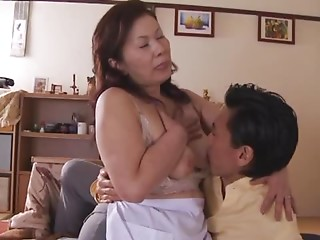 Chizuru Iwasaki acquires her pink snatch fingered and drilled each which way