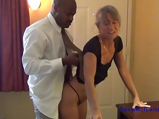 Smokin' sexy blonde siren takes a massive ebony dong in her constricted bawdy cleft