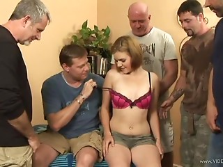 Fuckable Young slut Kelsey Tyler Receives Pounded In A Team fuck
