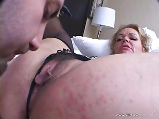 Older Blond Swallows A Chubby Shlong  In advance of Getting Smashed