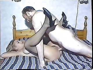 Naturally Busty Blonde Babe Gets Her Hairy Pussy Fucked By an Old Man