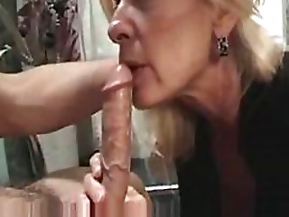 Elder Golden-haired Whore Sucks Wang and Receives Facialized - Non-professional Porn Vid