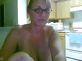 Hawt Golden-haired Elder Non-professional Masturbates With a Fake penis On Livecam