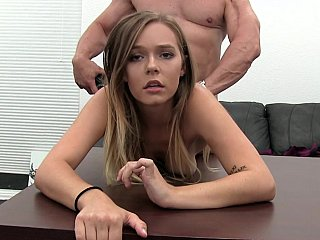 Nice-looking mommy rotated on classic office table