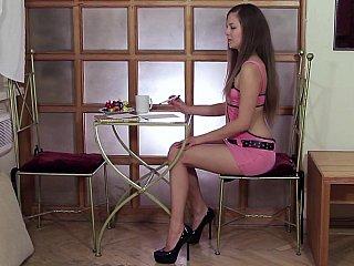 Eighteen year aged Masha stripping
