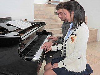 Eighteen year mature lascivious pianist