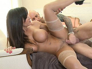 Bigtitted mamma fucking her son's ally