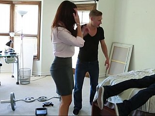 Helping his ill pal in the abode and fucking his mamma