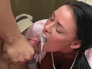 Cum in my mom's throat