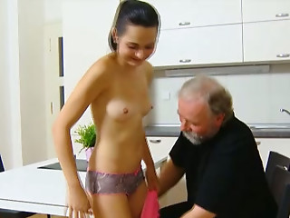 Slender and hot Euro playgirl Lora receives her muff eaten out in the morning