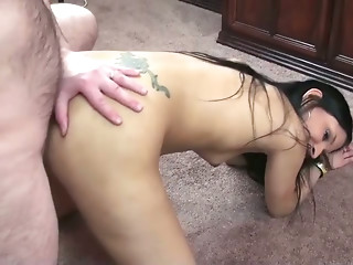 Young Indian chick Naomi Shah gets her pussy fucked by old dude